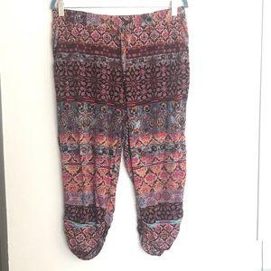 American Rag Boho Cropped Gypsy Pants Size Medium